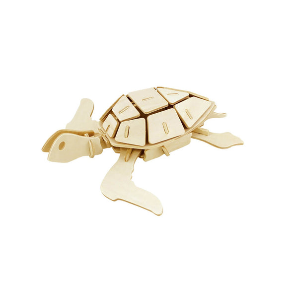 DIY 3D Wooden Puzzle: Sea Turtle