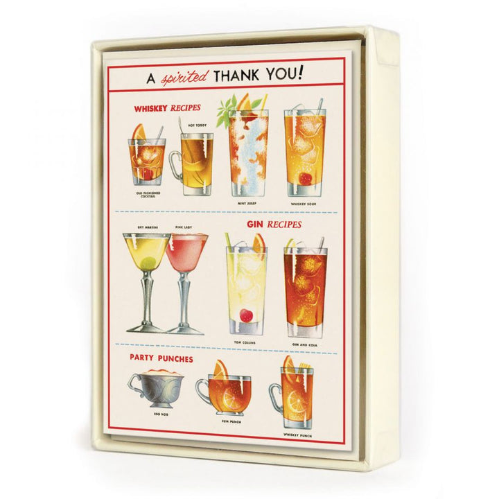 Cheers Thank You Note Card Set of 8