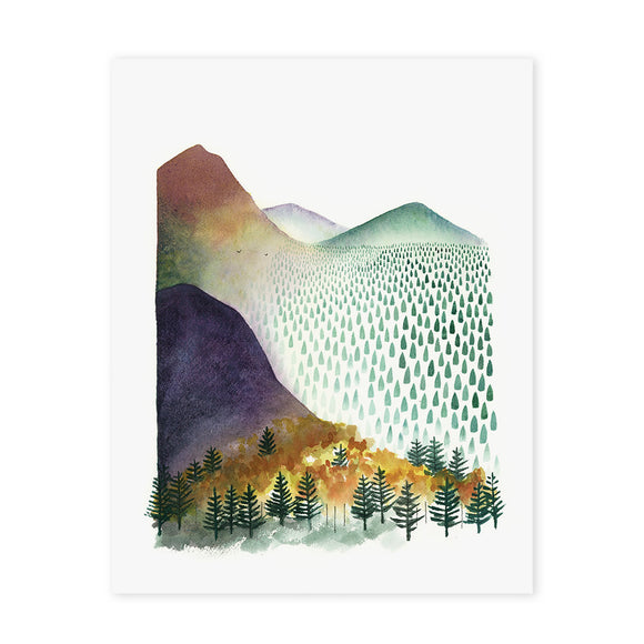 Mountain Morning Art Print