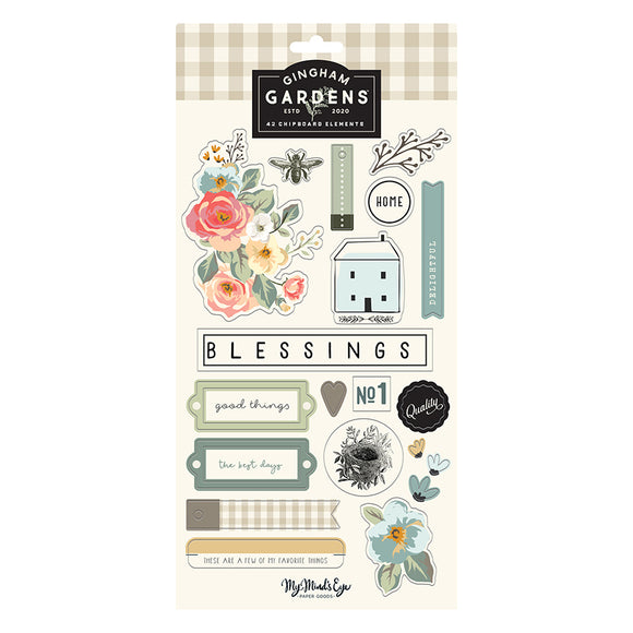 Gingham Gardens Chipboard Embellishments