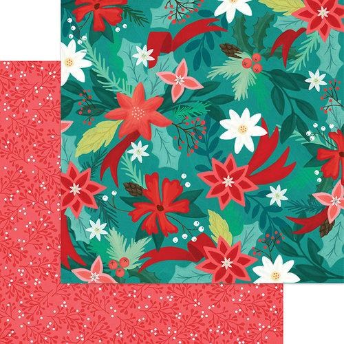 Jingle All The Way 12 x 12 Paper - Poinsetta Pines
