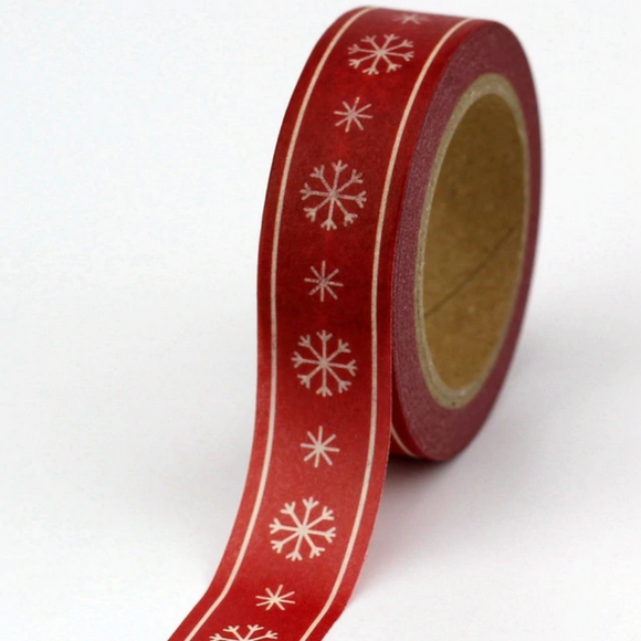 Red Snowflake Washi Tape