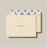 Navy Block Text Thank You Note (Set of 10)