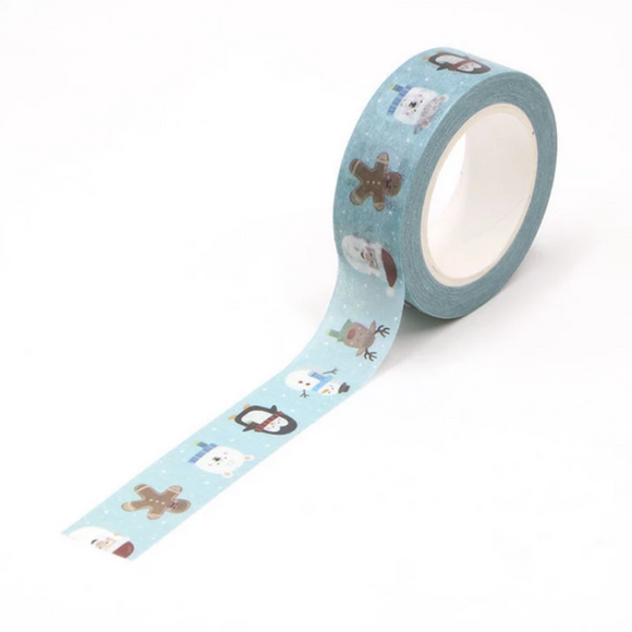 Light Blue Christmas Washi