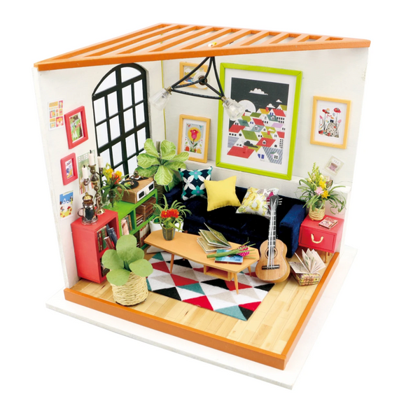 Locus' Sitting Room DIY Miniature Dollhouse Kit
