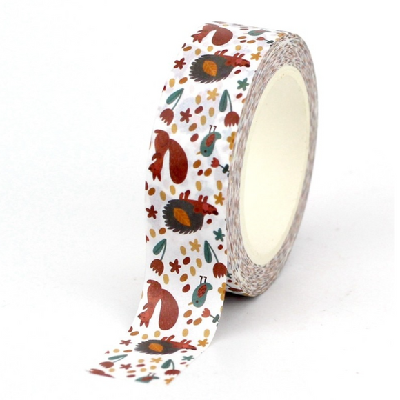 Hedgehog and Squirrel Washi Tape