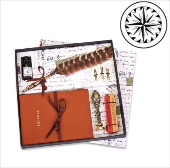 Essential Writing Set with Tan Journal