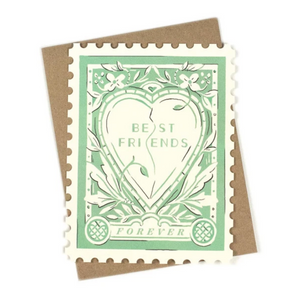 Best Friends Forever Stamp Card