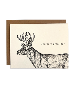 Season's Greetings Deer Holiday Card