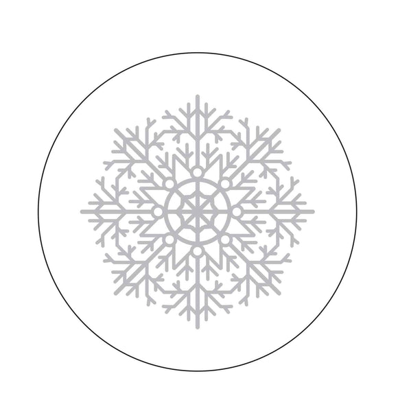 Snowflake Foil Stamped Coasters