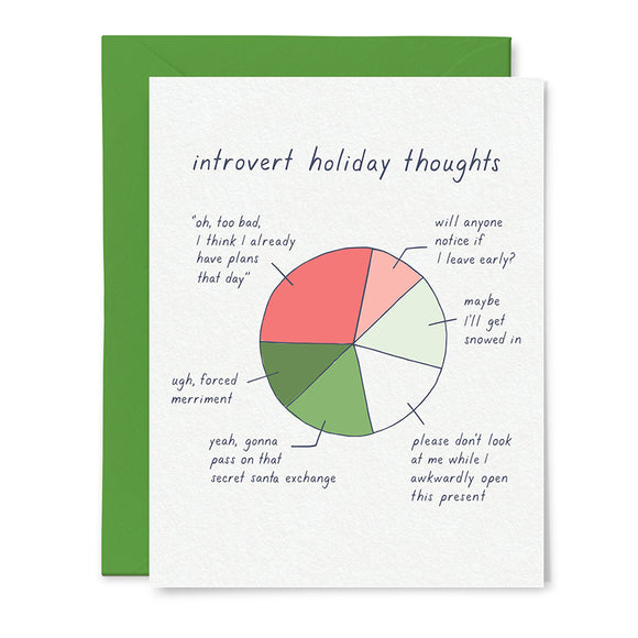 Introvert Holiday Card