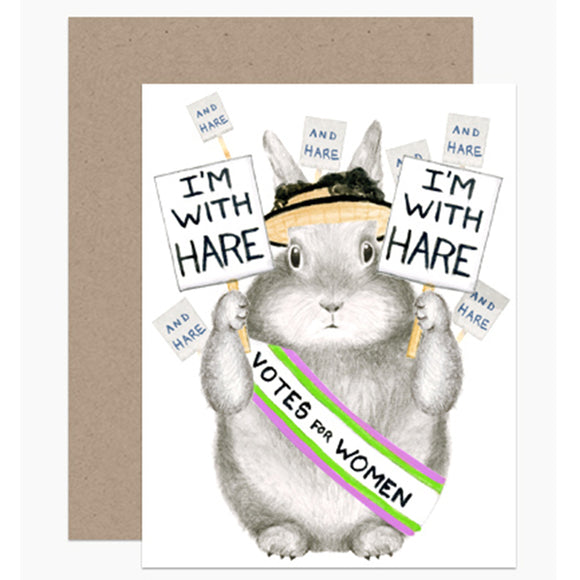 I'm With Hare Birthday Card