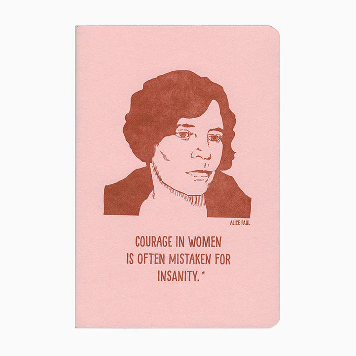 Alice Paul Letterpress Notebook