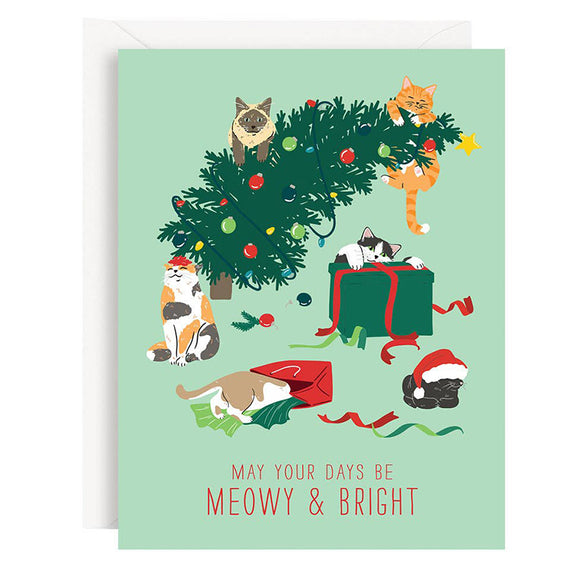 Meowy and Bright Card