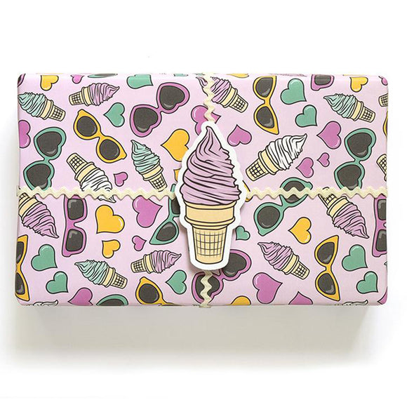 Ice Cream Wrapping Paper Roll