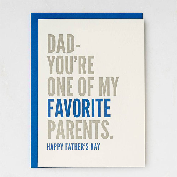 Favorite Parent Father's Day Card