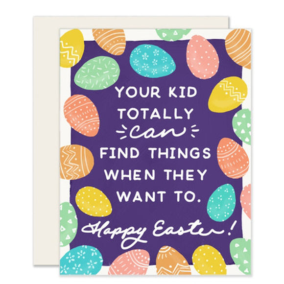 Egg Hunting Card