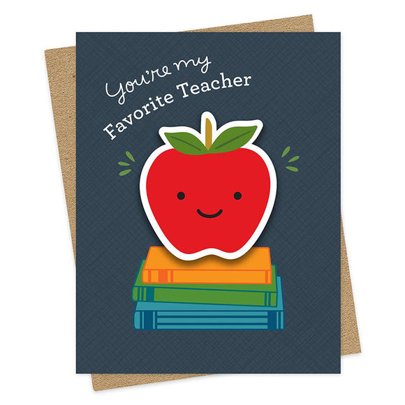 Teacher Apple Sticker Card