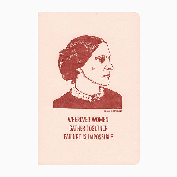 Susan B. Anthony Letterpress Notebook