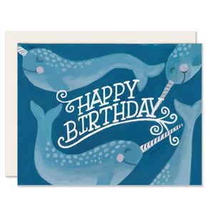 Birthday Narwhals Card
