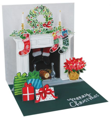 Holiday Mantel Treasures Light-up Pop-up Card