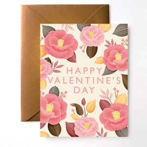 Camellia Japonica Valentine's Day Card