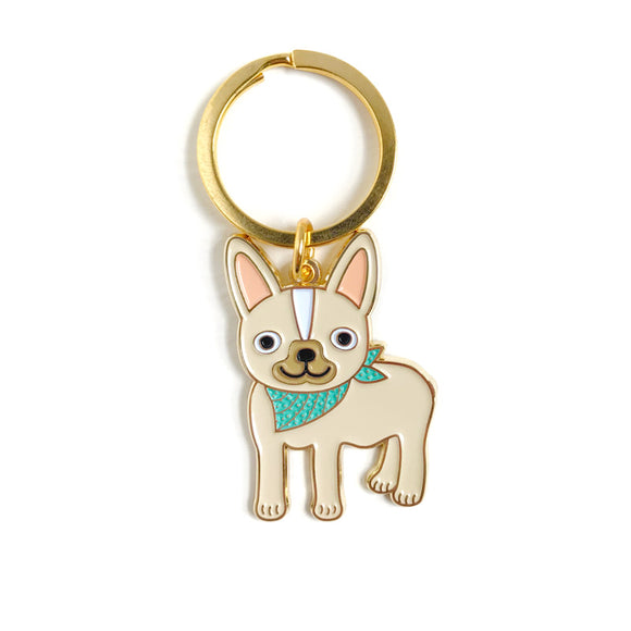 Enamel Keychain - Friendly Frenchie