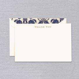 Engraved Regency Thank You Card