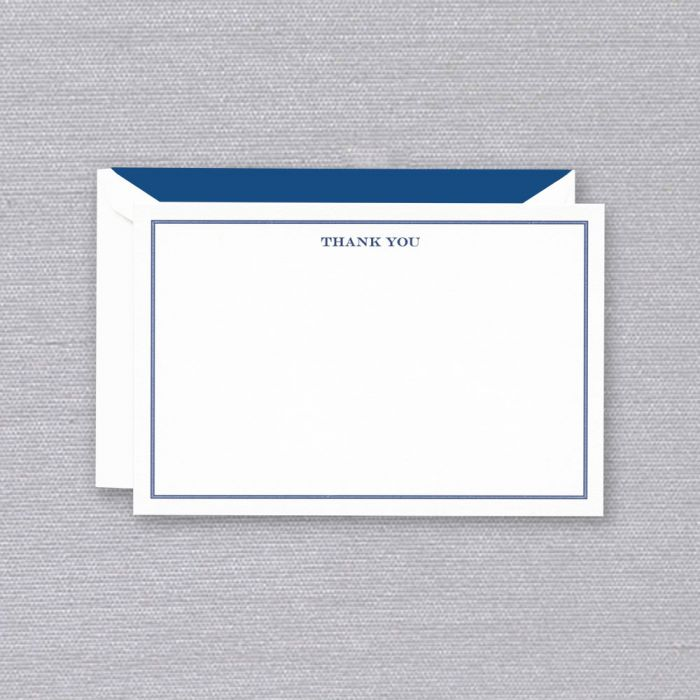 Engraved Shaded Frame Thank You Card (Set of 10)