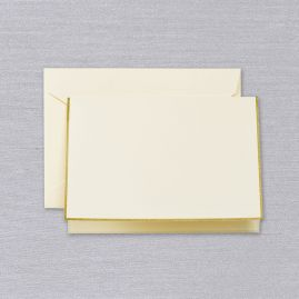 Gold Bordered Ecru Note (Set of 15)