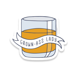 Grown-Ass Lady Sticker
