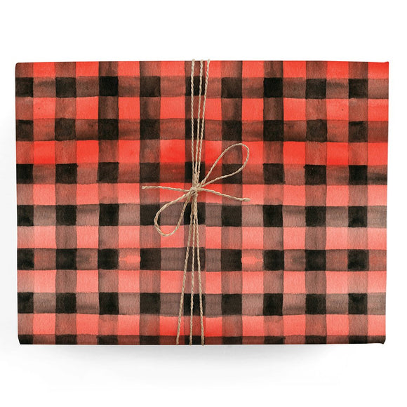 Red Gingham Gift Wrap (Roll)