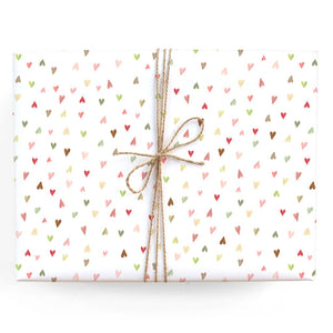 Mini Hearts Gift Wrap Roll
