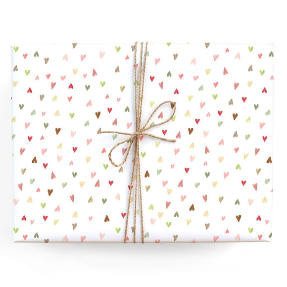 Mini Hearts Gift Wrap (Roll or Single)