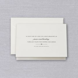 Engraved Sympathy Acknowledgement Note (Set of 10)