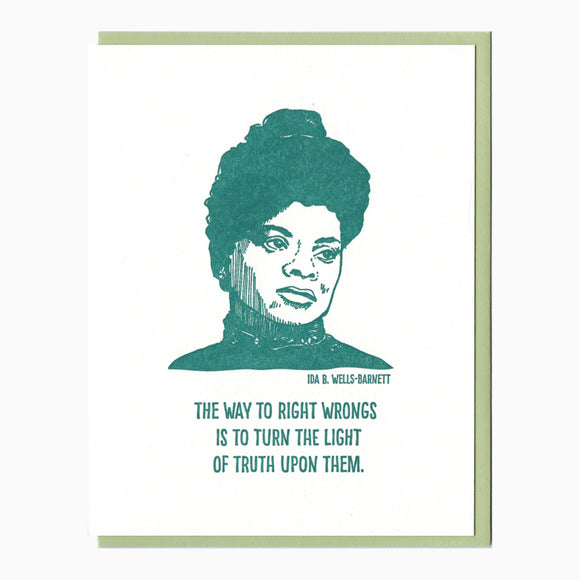 Ida B Wells letterpress card