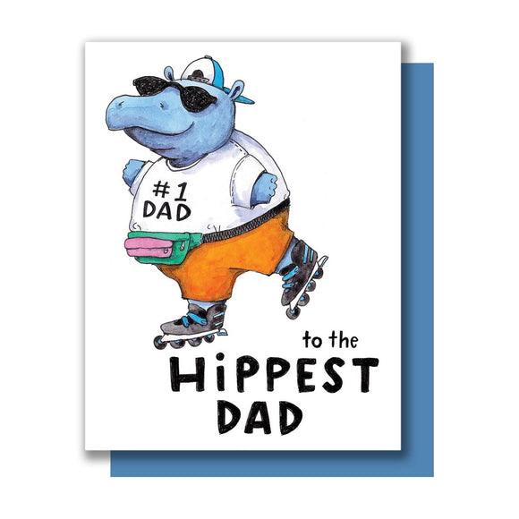 Hippest Dad Hippo Father's Day Card