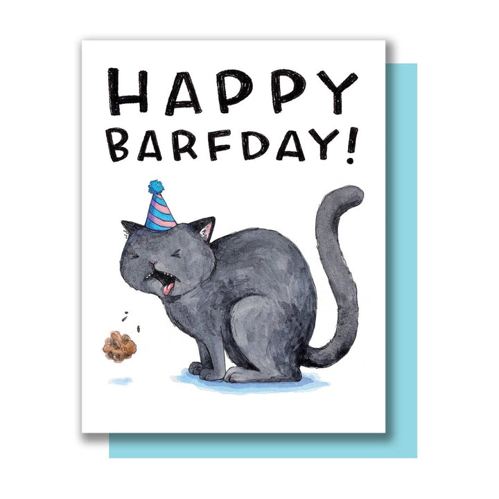 Barfday Happy Birthday Card