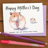 Happy Mother's Day Hamster Card