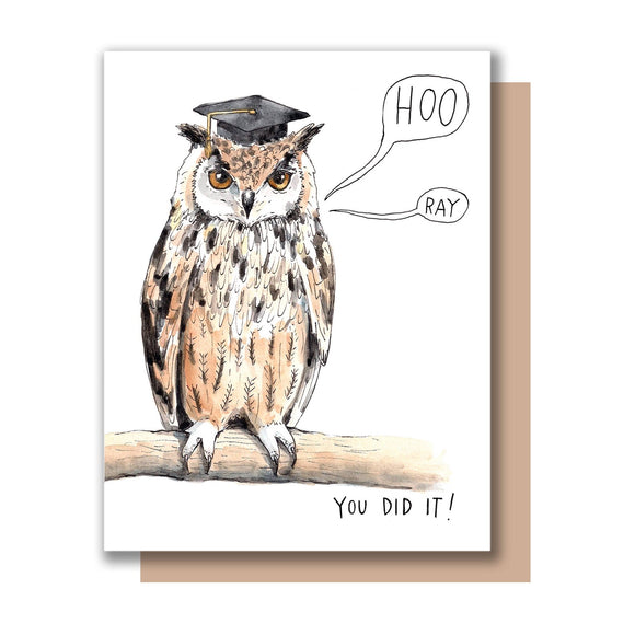 Owl Hooray Graduation Card