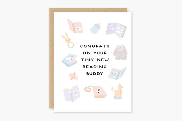 Reading Buddy Baby Card