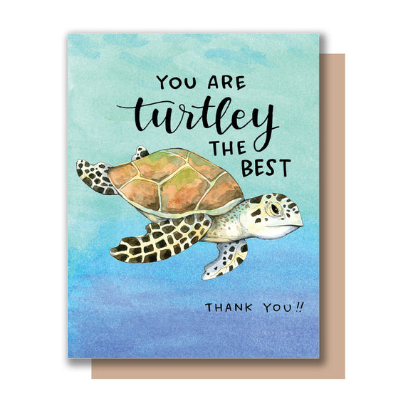 Turtley the Best Thank You Card