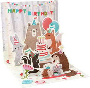 Woodland Animals Treasures Pop-up Card