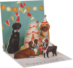 Dogs and Cake Treasures Pop-up Card