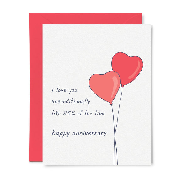 Unconditional Love Anniversary Card