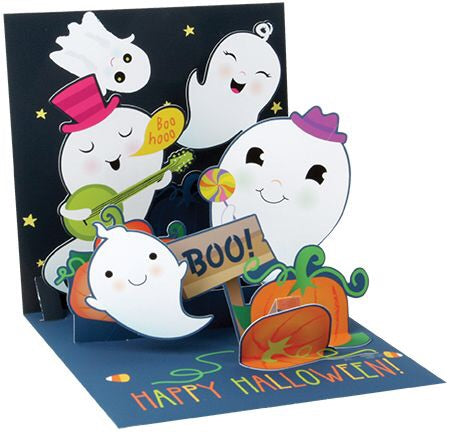 Pumpkin Patch Ghosts Treasures Pop-up Card