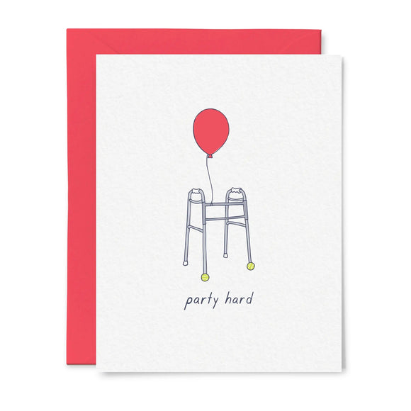 Party Hard Birthday Card