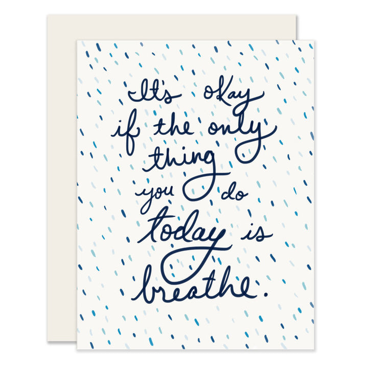 Breathe Encouragement Card