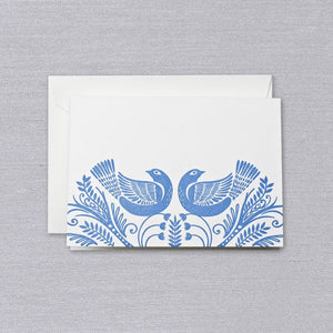 Letterpress Birds Note (Set of 10)