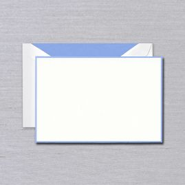Newport Blue Bordered Card (Set of 10)
